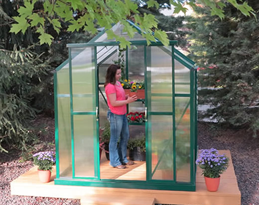 Grandio Element 6x4 A Frame Style Greenhouse Kit Grandio