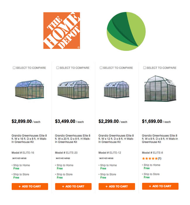 our greenhouses now at home depot grandio greenhouses. Black Bedroom Furniture Sets. Home Design Ideas